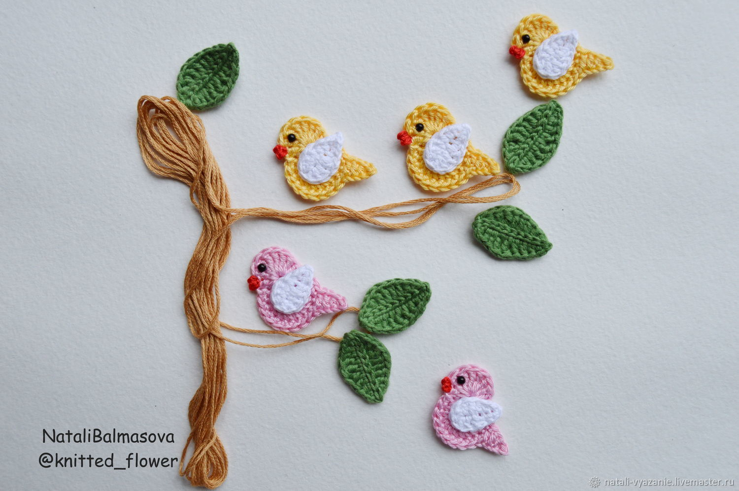 Bird applique crochet – shop online on Livemaster with shipping ...