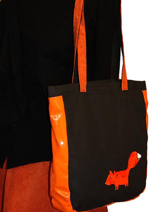 """Женские сумки ручной работы. Ярмарка Мастеров - ручная работа. Купить Женская сумка """"С лисой"""". Handmade. Черный, Лисы"""