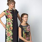Одежда handmade. Livemaster - original item Vertical - dress, hand painted puse silk.. Handmade.