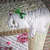 """Для дома и интерьера ручной работы. Ярмарка Мастеров - ручная работа Одеяло """"Кошки и цветы-3"""". Handmade."""