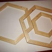 Инструменты ручной работы. Ярмарка Мастеров - ручная работа Пяльца шестигранные с гвоздиками. Handmade.
