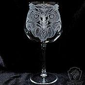 Посуда handmade. Livemaster - original item Owl Glass.. Handmade.
