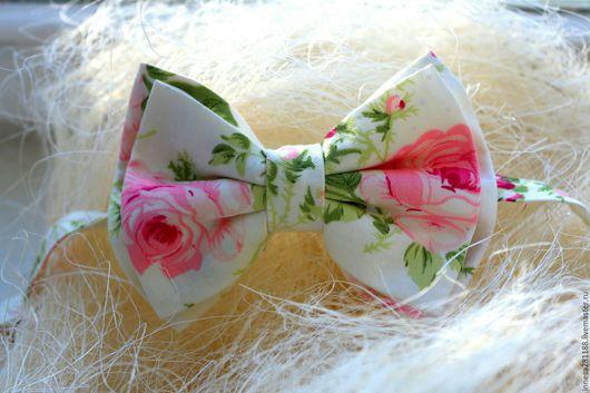 Галстуки, бабочки ручной работы. Ярмарка Мастеров - ручная работа. Купить Галстук Бабочка Нежность. Handmade. Розовый, цветочный