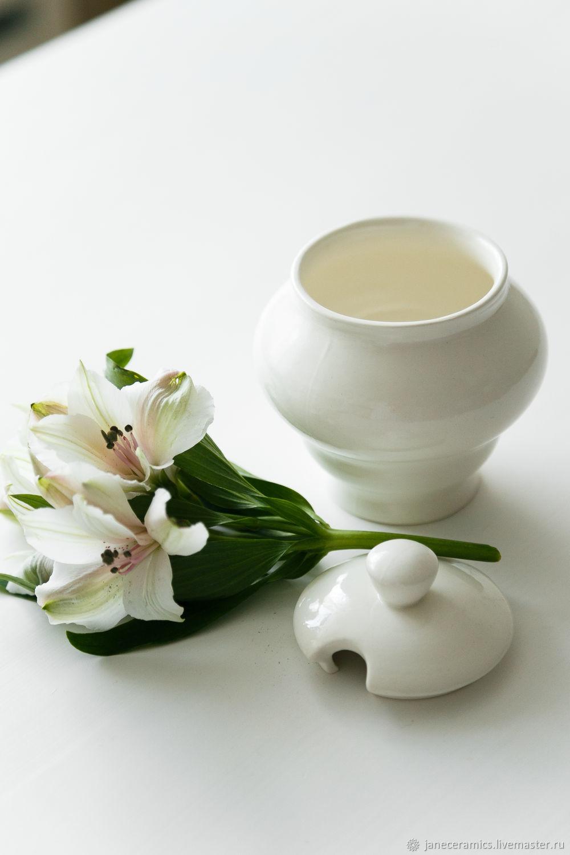 Sugar bowl 'Classic', handmade ceramics, Sugar Bowls, Zhukovsky,  Фото №1