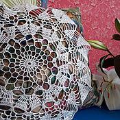 Винтаж ручной работы. Ярмарка Мастеров - ручная работа Салфетка белая хлопковая для декора или для рукоделия. Handmade.