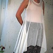 Одежда ручной работы. Ярмарка Мастеров - ручная работа Прозрачная туника-накидка - отпуск на море. Handmade.