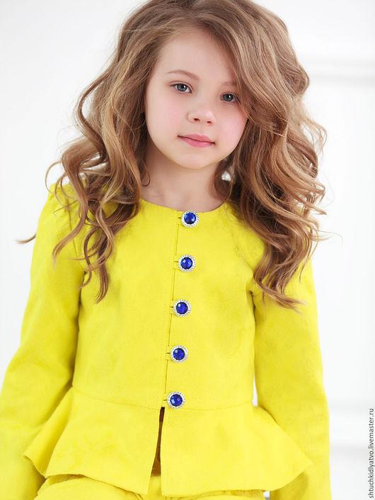 Одежда для девочек, ручной работы. Ярмарка Мастеров - ручная работа. Купить Желтый жакет с шортами. Handmade. Желтый, одежда для девочек