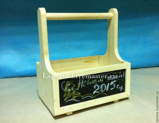 Деревянный ящик для инструментов с уникальной грифельной доской для рисования