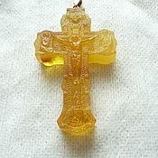 handmade. Livemaster - original item The crucifixion amber gold thread R-230. Handmade.