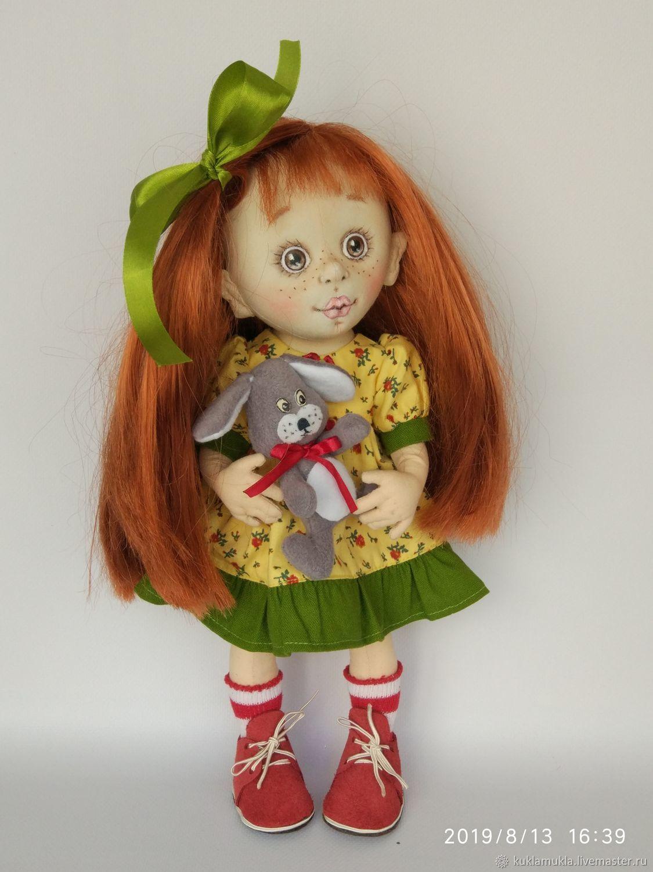 Текстильная кукла Маняша, подарочная кукла ручной работы, Коллекционные куклы, Курск, Фото №1