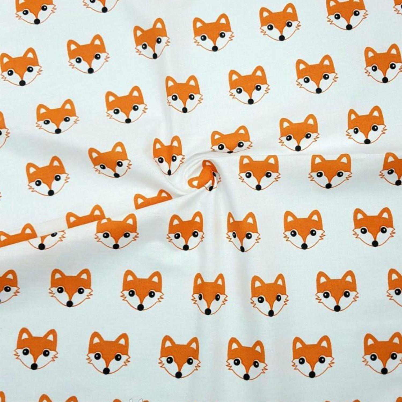 Ткань Ранфорс Лисички хлопок 100% 130гр/м2, ширина 240см. Турция, Ткани, Иваново,  Фото №1