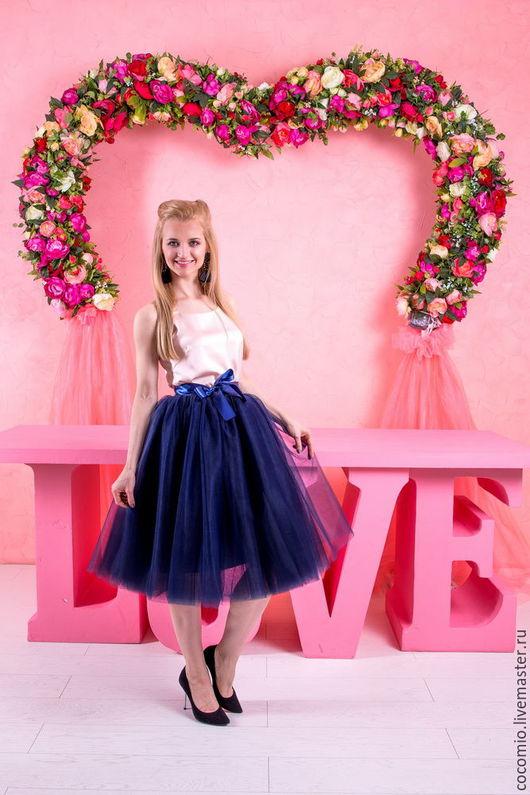Темно-синяя юбка-пачка купить в Москве недорого