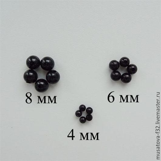 Для украшений ручной работы. Ярмарка Мастеров - ручная работа. Купить Глаза для игрушек бусины круглые чёрные 4мм-8мм. Handmade.