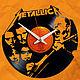 """Часы для дома ручной работы. Ярмарка Мастеров - ручная работа. Купить Часы из пластинки""""Metallica"""". Handmade. Металл, подарок, часы"""