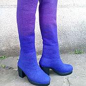 """Обувь ручной работы. Ярмарка Мастеров - ручная работа Валенки- ботфорты """"Вайлет"""". Handmade."""