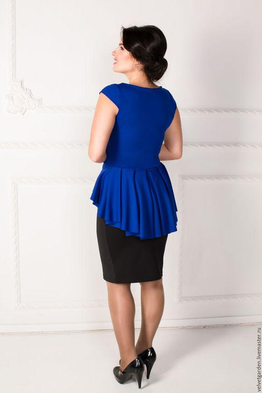 """Блузки ручной работы. Ярмарка Мастеров - ручная работа. Купить Блуза """"Кокетка"""". Handmade. Тёмно-синий, блуза, складки"""