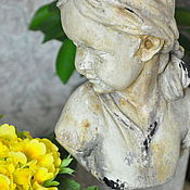 Для дома и интерьера handmade. Livemaster - original item Bust of a girl on a stand Vintage aged decor. Handmade.