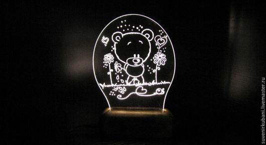 """Освещение ручной работы. Ярмарка Мастеров - ручная работа. Купить Светильник - ночник """"Мишка"""".. Handmade. Белый, мишка"""