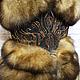 Верхняя одежда ручной работы. Жилетка из соболя. Polinella Furs Exclusive. Интернет-магазин Ярмарка Мастеров. Жилетка, мода, вышивка