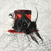 """Аксессуары ручной работы. Ярмарка Мастеров - ручная работа мини-цилиндр """"Черная роза"""". Handmade."""