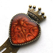 Канцелярские товары handmade. Livemaster - original item Bookmark for books Heart red color. Handmade.