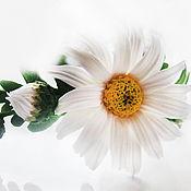Украшения ручной работы. Ярмарка Мастеров - ручная работа ободок из цветов ромашки на голову. Handmade.