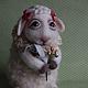 Игрушки животные, ручной работы. Овечка. Dobronya. Интернет-магазин Ярмарка Мастеров. Овечка, овечка ручной работы, подарок на новый год