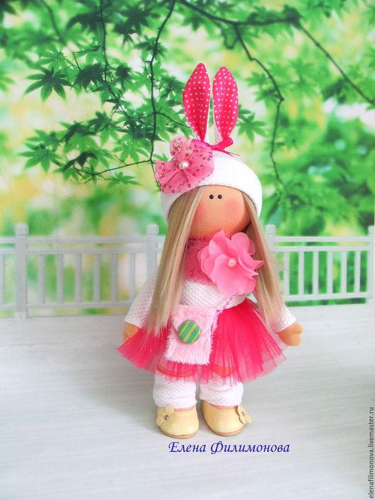 Коллекционные куклы ручной работы. Ярмарка Мастеров - ручная работа. Купить Интерьерная текстильная кукла. Handmade. Розовый, кукла в подарок