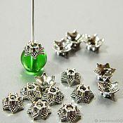 Материалы для творчества handmade. Livemaster - original item Beanies for beads color silver. 10 pcs. Handmade.