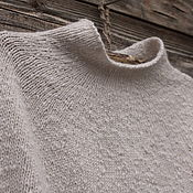 Одежда handmade. Livemaster - original item Knitted wool poncho, Cape, vest. Handmade.