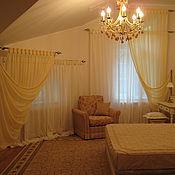 Для дома и интерьера handmade. Livemaster - original item Textiles bedroom is not a standard window. Handmade.