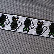"""Украшения ручной работы. Ярмарка Мастеров - ручная работа Браслет """"Черные кошки"""". Handmade."""