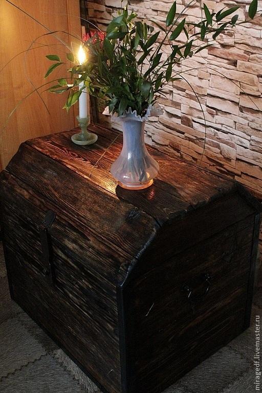Мебель ручной работы. Ярмарка Мастеров - ручная работа. Купить Старый сундук. Handmade. Полисандр, для загородного дома, браширование, славянский