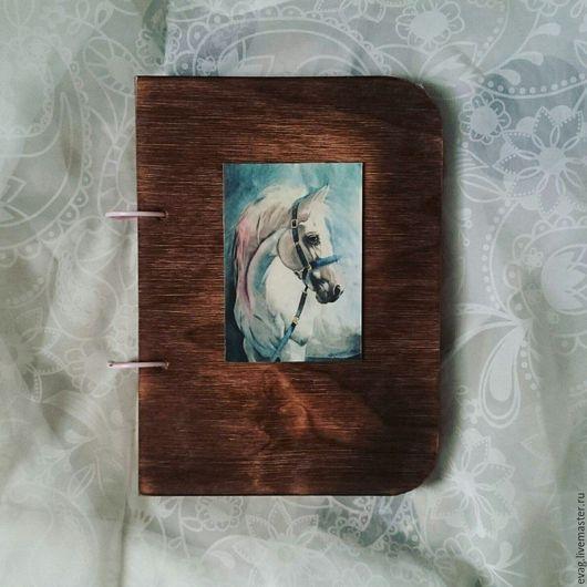 """Блокноты ручной работы. Ярмарка Мастеров - ручная работа. Купить Скетчбук А5 """"Белая лошадь. Почти единорог"""" Блокнот. Handmade."""