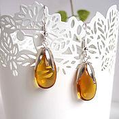 Украшения handmade. Livemaster - original item Earrings Silver Drops Rainbow Colored Glass Yellow Transparent. Handmade.