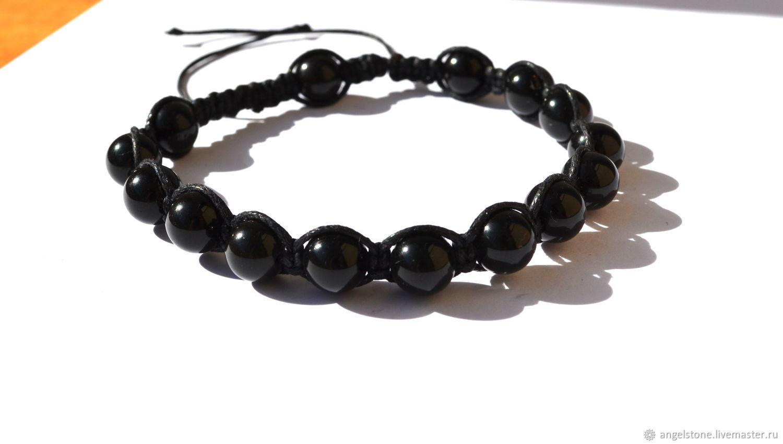 Customized Gifts handmade. Livemaster - handmade. Buy Men's Shambhala bracelet of obsidian.Handmade, natural stones