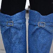 """Обувь ручной работы. Ярмарка Мастеров - ручная работа сапожки валяные """"В бирюзовых тонах"""". Handmade."""