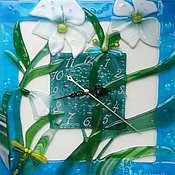 """Для дома и интерьера ручной работы. Ярмарка Мастеров - ручная работа Часы """" В голубой оправе"""". Handmade."""