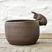 """Посуда ручной работы. Ярмарка Мастеров - ручная работа Пиала / салатник """"Кролик"""". Handmade."""
