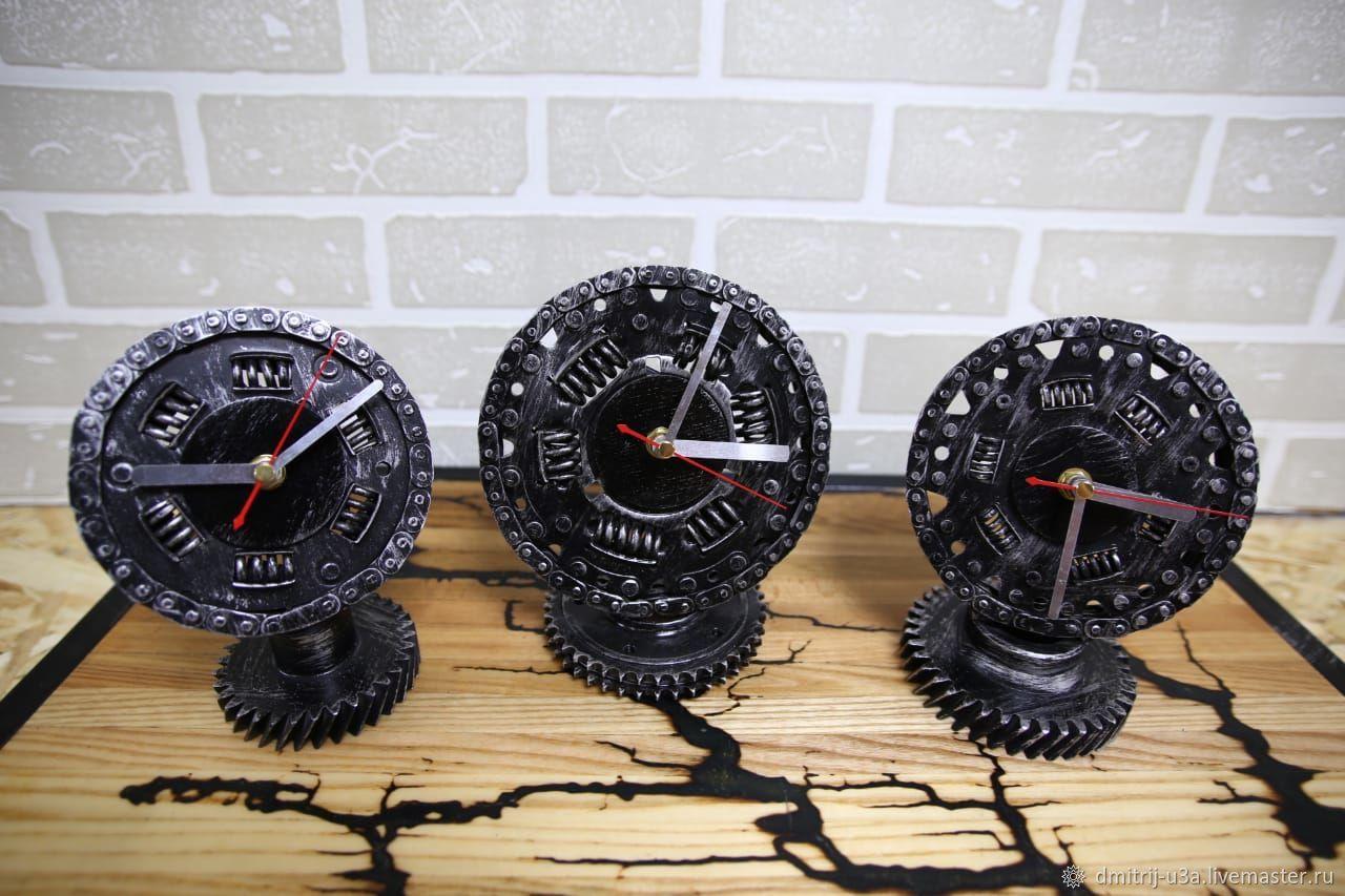 Часы настольные из диска сцепления автомобиля, Часы классические, Москва,  Фото №1