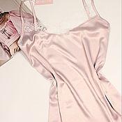 Одежда ручной работы. Ярмарка Мастеров - ручная работа Сорочка ночная с белым кружевом. Handmade.