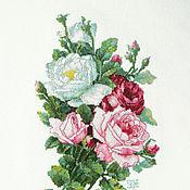 """Картины и панно ручной работы. Ярмарка Мастеров - ручная работа Вышивка крестом """"Букет из роз"""". Handmade."""