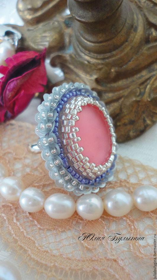 """Кольца ручной работы. Ярмарка Мастеров - ручная работа. Купить Кольцо с лунасофтом """"Моя мечта"""". Handmade. Розовый, перстень с камнем"""