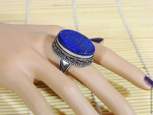 """Кольца ручной работы. Ярмарка Мастеров - ручная работа. Купить Кольцо с Лазуритом """"Лазурное"""", натуральный камень.. Handmade. Тёмно-синий"""
