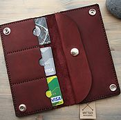 Сумки и аксессуары handmade. Livemaster - original item wallet genuine leather. Handmade.