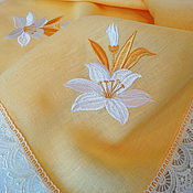 Подарки к праздникам handmade. Livemaster - original item easter napkin with embroidered