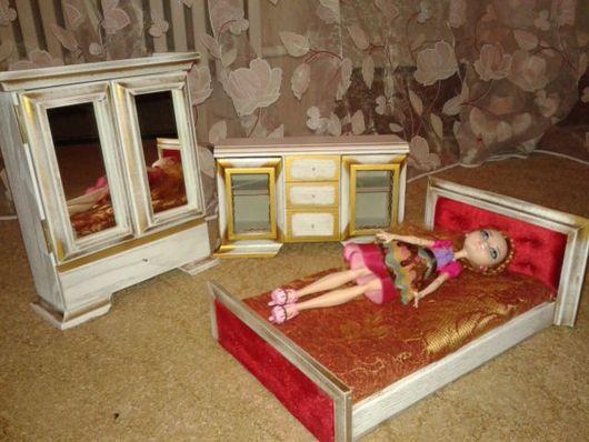 Кукольный дом ручной работы. Ярмарка Мастеров - ручная работа. Купить набор мебели кдля кукол. Handmade. Комбинированный