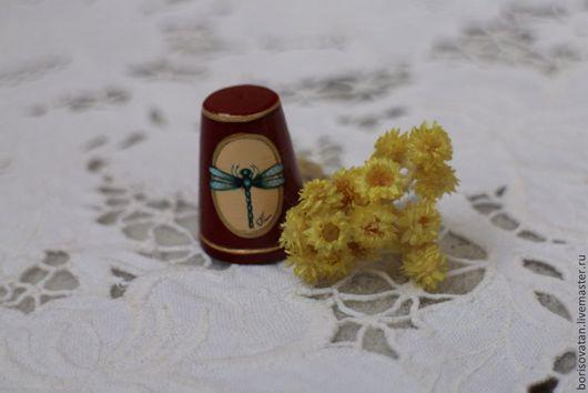 """Миниатюрные модели ручной работы. Ярмарка Мастеров - ручная работа. Купить Наперсток """" Стрекозка"""". Handmade. Разноцветный, лаковая миниатюра"""