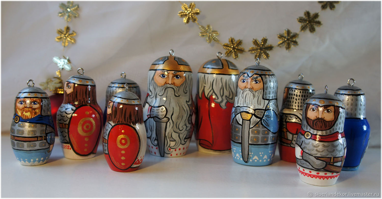 Christmas tree toys Russian heroes, Christmas decorations, Tyumen,  Фото №1