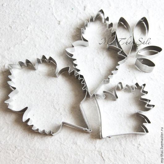 Каттер хризантема. Лепестки и листья. Керамическая флористика My Thai материалы из Таиланда